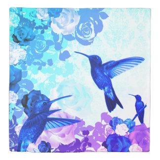 Roses & Humming Birds Duvet Cover