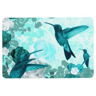 Roses & Humming Birds Floor Mat