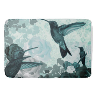Roses & Hummingbirds Bath Mat