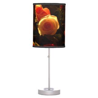 Roses I - Orange, Red and Gold Glory Desk Lamp