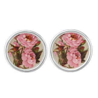 Roses in antique design cufflinks