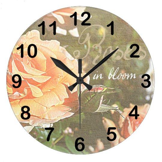 Roses in Bloom Clock