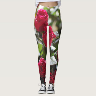 Roses in bloom leggings