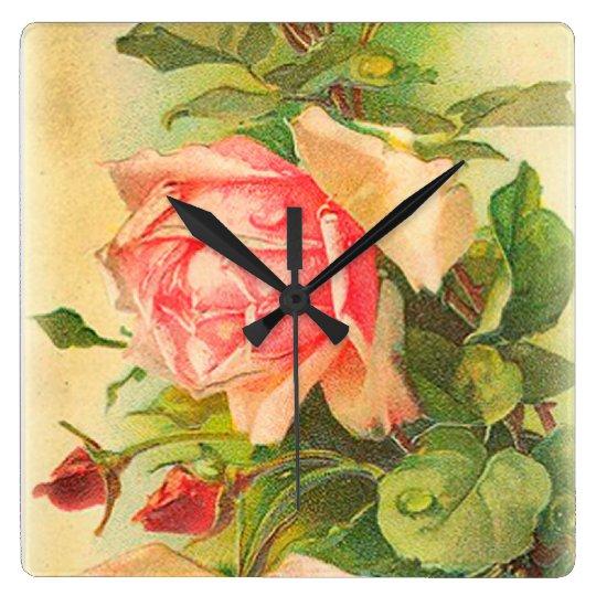 Roses in Bloom Wallclocks