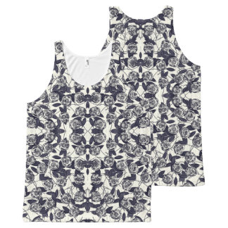 Roses in Bluem All-Over-Print Tank Top