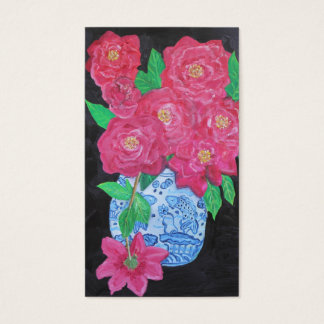 Roses in Chinese Vase Business Card