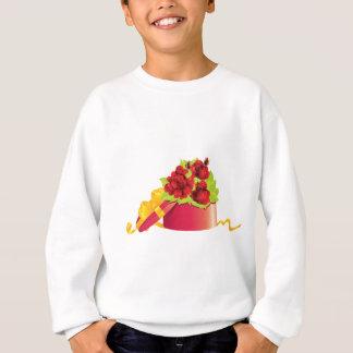 Roses in gift box sweatshirt