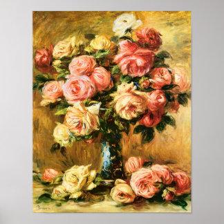 Roses in the Vase Renoir Fine Art Poster