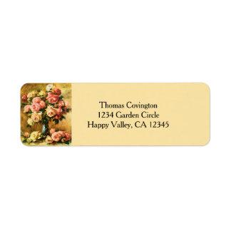 Roses in the Vase Renoir Fine Art Return Address Label