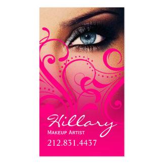Roses indien dramatiques du maquilleur d yeux bl cartes de visite personnelles