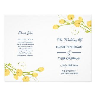 Roses jaunes de jardin avec le programme de prospectus 21,6 cm x 24,94 cm