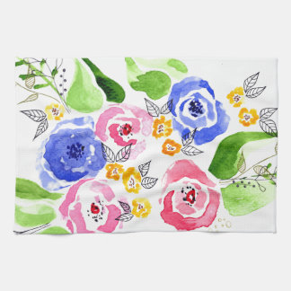 roses kitchen towel