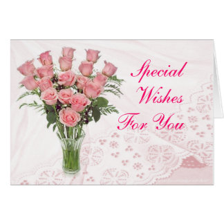 Roses & Lace- customize any occasion Card