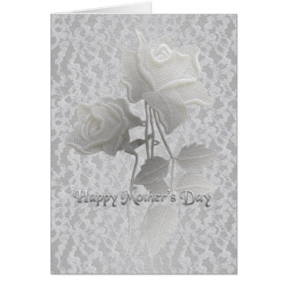 Rose's & Lace Mother's Day Card