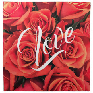 Roses Love Cloth Napkin