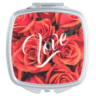 Roses Love Compact Mirror