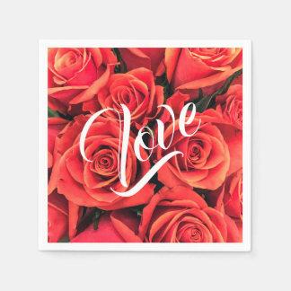 Roses Love Paper Napkin