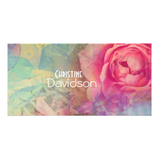 Roses lovely design photo card template