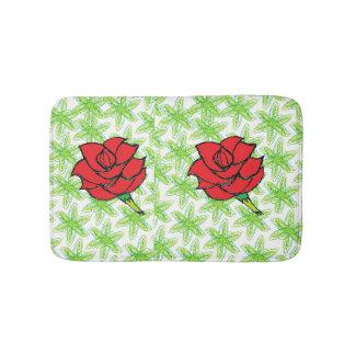roses mat bathroom mat