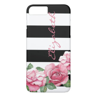 Roses: Modern Painted Pink Rose iPhone 7 iPhone 7 Plus Case