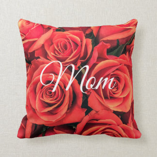 Roses Mom Throw Pillow