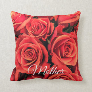 Roses Mother Throw Pillow