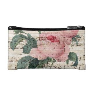 roses musicc cosmetic bag