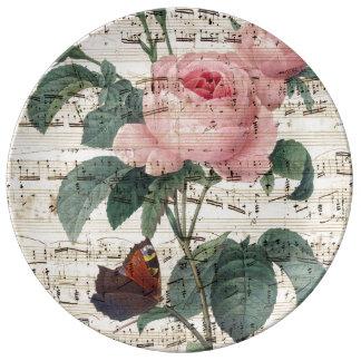 roses musicc plate