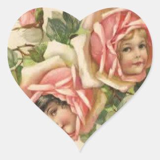 Roses n' Cherubs Sticker