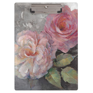 Roses on Gray Clipboard