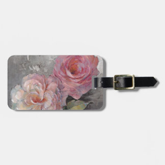 Roses on Gray Luggage Tag