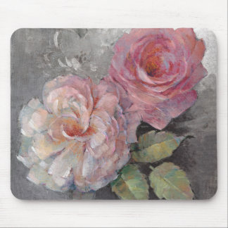 Roses on Gray Mouse Pad