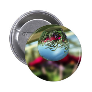 Roses on Raindrops Button