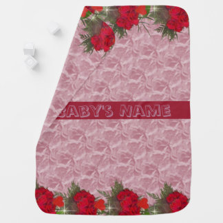 Roses on the Border Baby Blanket