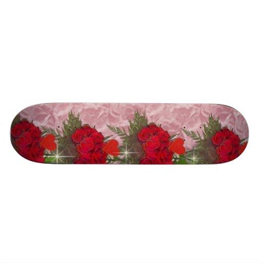 Roses on the Border Skate Board