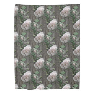 Roses on Wood Duvet Cover