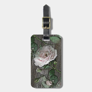 Roses on Wood Luggage Tag