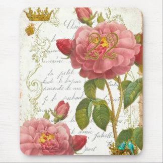 Roses Parfumées Rouges de Versailles 22 Mouse Pad