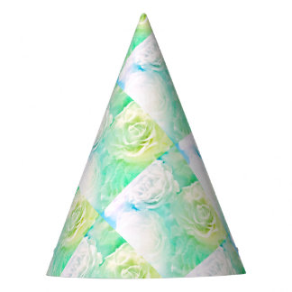 Roses Party Hat-Lime & Aqua Party Hat