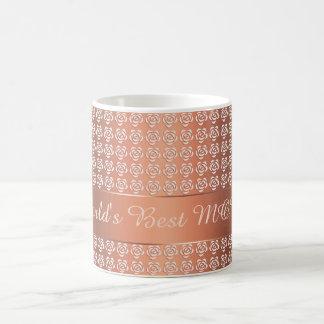 roses pattern coffee mug