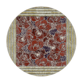 Roses Pattern Cutting Board