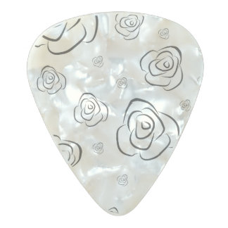 Roses Pearl Celluloid Guitar Pick