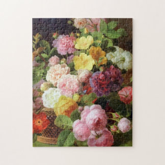 Roses, Peonies and Other Flowers Dutch Fine Arts Jigsaw Puzzle