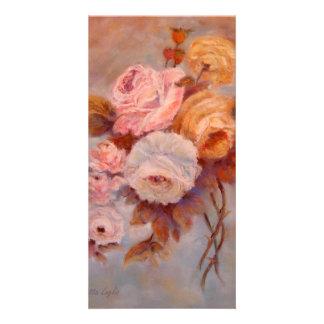 roses custom photo card