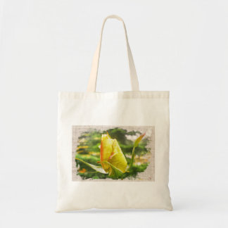 roses print. tote bag