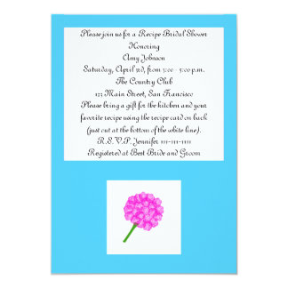 Roses Recipe Card Recipe Bridal Shower Invitation