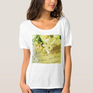 Roses, ribbon, old handwriting T-Shirt