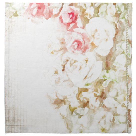 Roses Ribbons and Lace Napkin