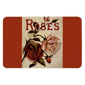 Roses Rosebud Vintage Advertisement Florals Rectangular Photo Magnet