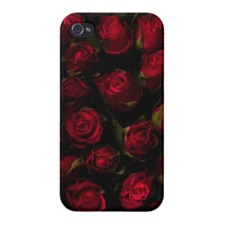 Roses rouges coque iPhone 4 et 4S